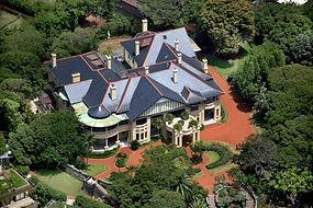Babworth House aerial view 01-600x400.jp