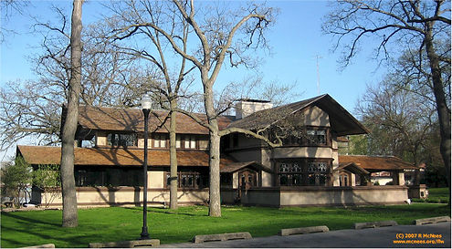 FLW-Warren Hickox house Kankakee