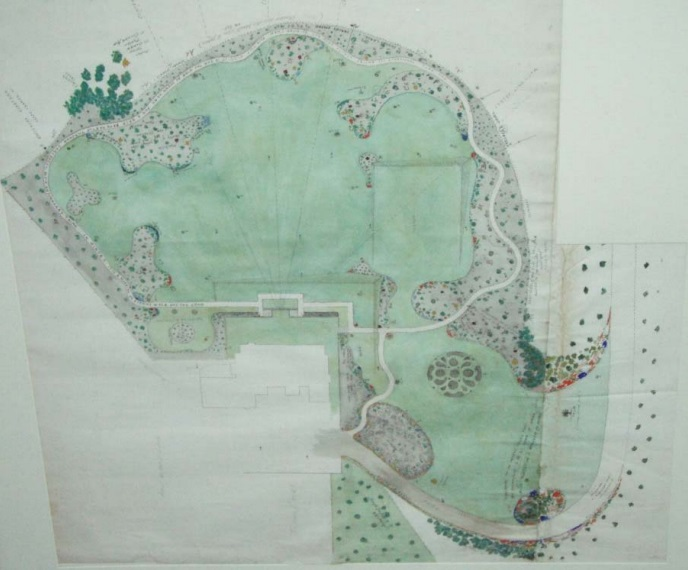 William_Guilfoyle's_c1910_plan_for_the_g