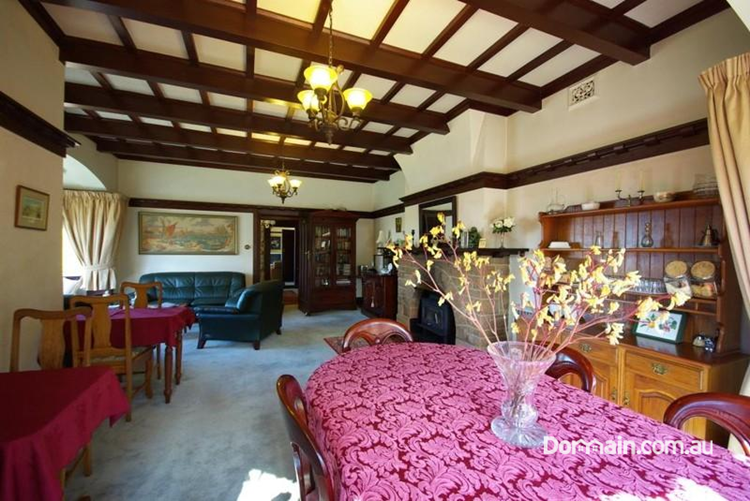 The Elms, a North Hobart Arts and Crafts mansion with views over the extensive gardens and the Derwent River