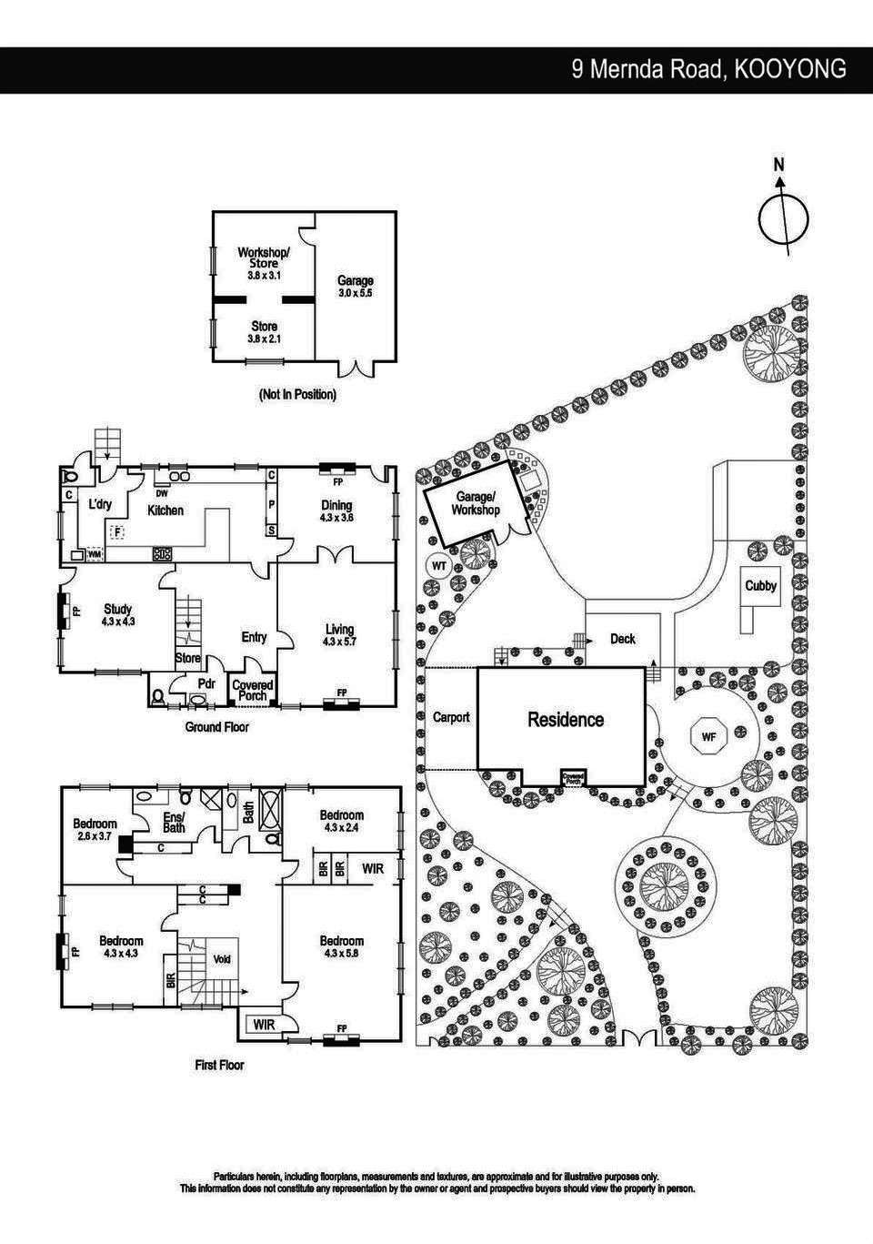 Floorplan of Grnefell, 9 Mernda Road Kooyong Vic 3144