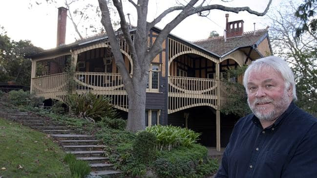 Peter Crone at the Chadwick House in 2008, when his painstaking restoration won a prestigious architecture award.