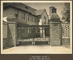 Entrance Gates Wm McBeath House