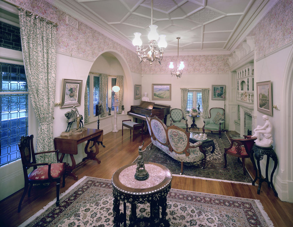 Restored Music Room at Redleaf, Wahroonga NSW