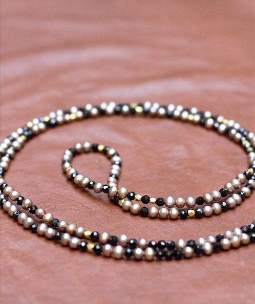 Spinel and 14K Gold Long Necklace