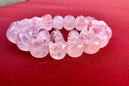 Rose Quartz Skull Bracelet