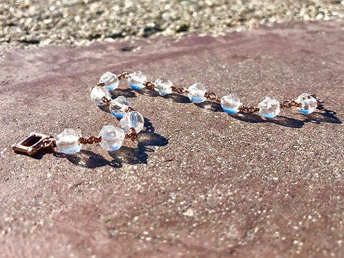 Crystal Quartz Link Bracelet