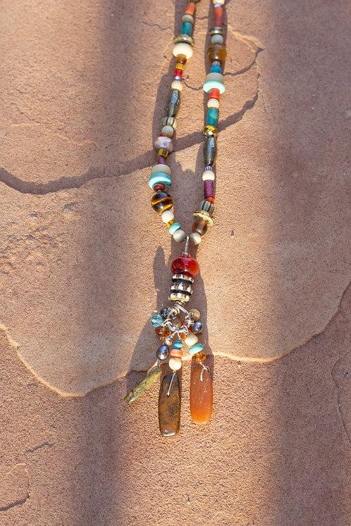 Multi Beaded Dancer Necklace