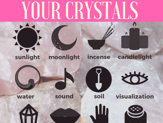 12 Ways to Clean your Crystals
