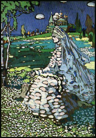 """""""Bellezza russa in un paesaggio"""", 1904, Russische Schonheit in Landschaft"""
