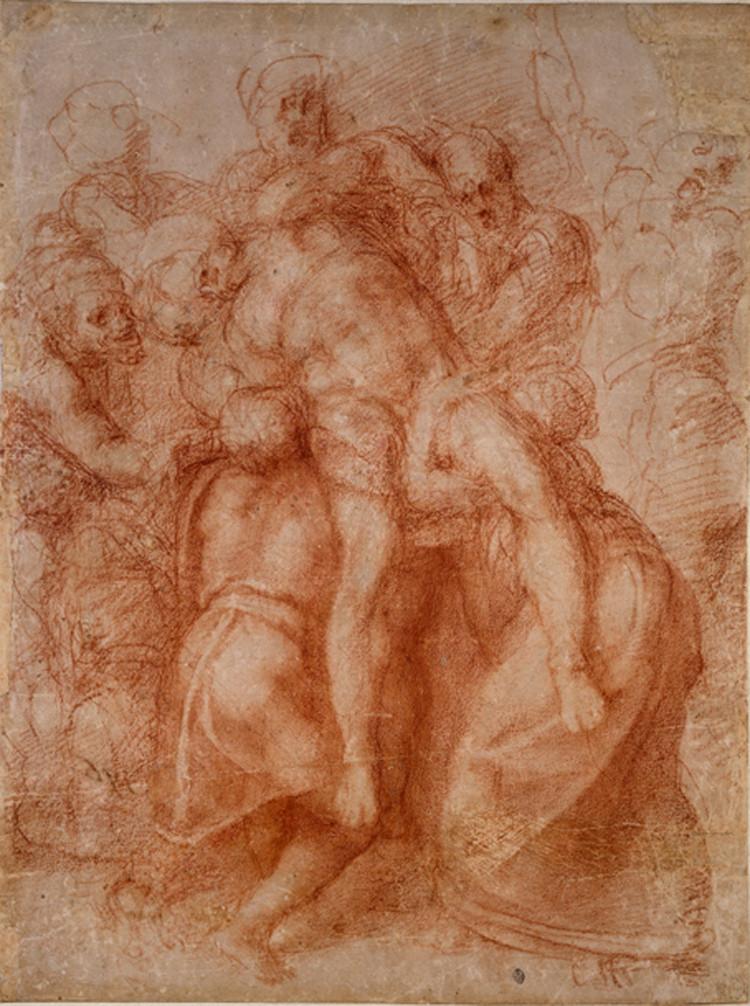 disegno di Michelangelo all'Ashmolean Museum di Oxford