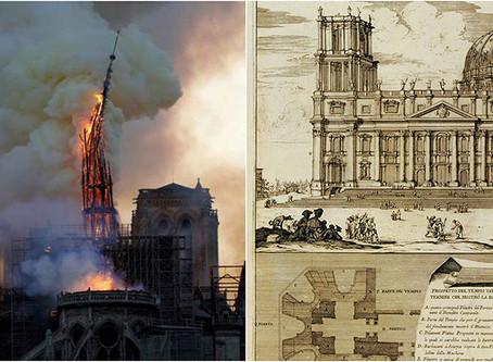 Il dramma di Notre Dame e la sua rinascita. Ricorre oggi la posa della prima pietra di San Pietro