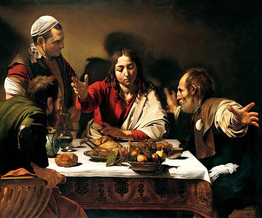 """Cena in Emmaus"" National Gallery di Londra, 1601-1603"