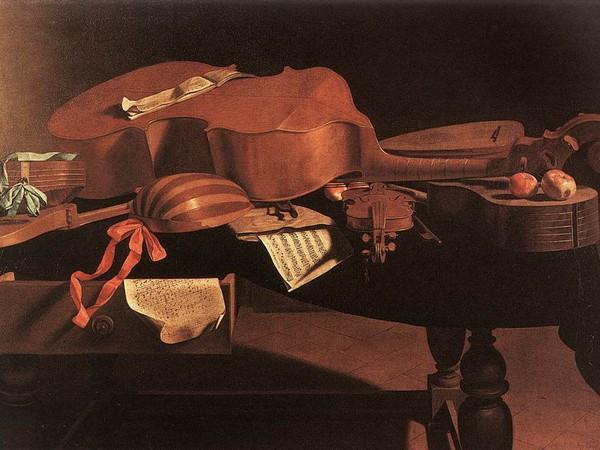 Natura morta con strumenti musicali di Evaristo Baschenis