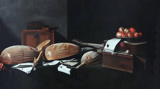 la polvere sugli strumenti musicali di Evaristo Baschenis