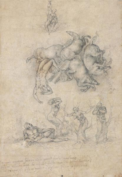 Caduta di Fetonte, 1533, disegno Michelangelo