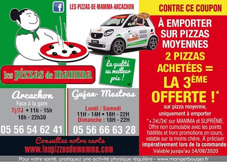 coupon reduction Promotion pizza de mamma livraison de pizza gujan mestras livraison pizza arcachon livraison pizza la teste de buch