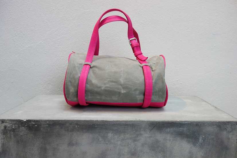 sportbag small *vegetable tanned leather & canvas*