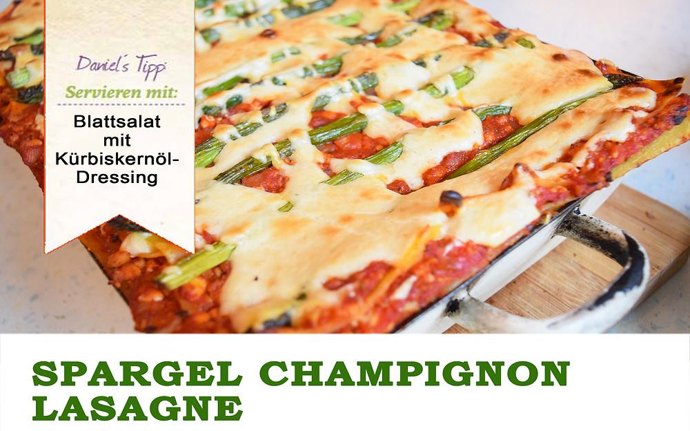 Spargel Champignon Lasagne Vegan