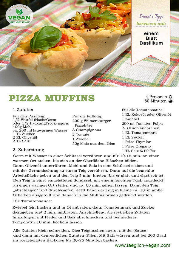 Pizza Muffins Vegan