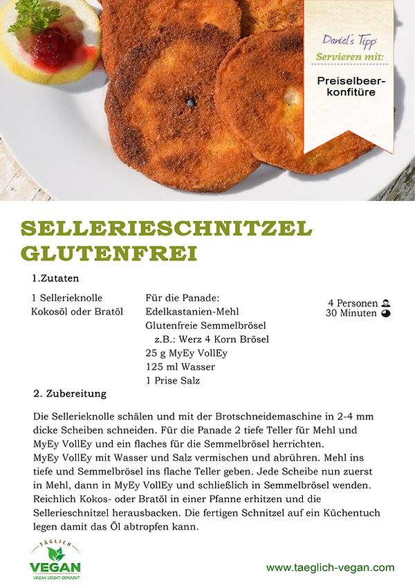 Sellerieschnitzel Glutenfrei Vegan