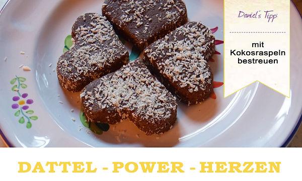 Dattel Power Herzen Vegan