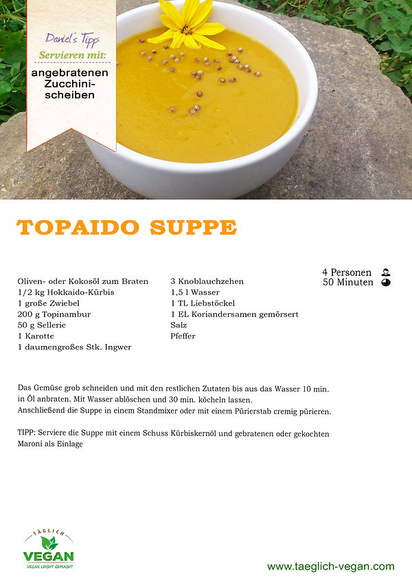 Topaido Suppe Vegan