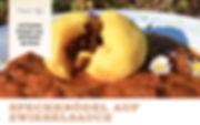 Speckknödel auf Zwiebelsauce Vegan