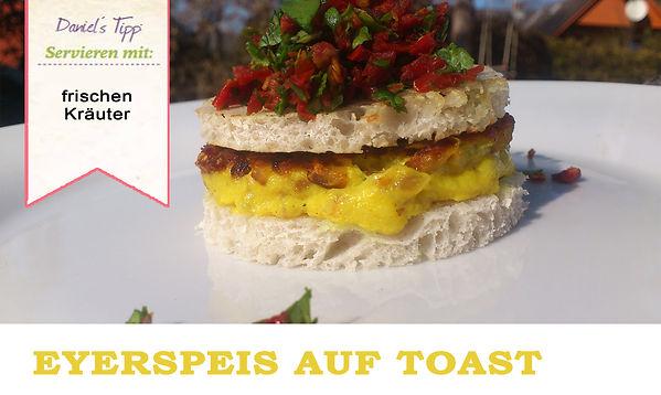 Eierspeise auf Toast Vegan