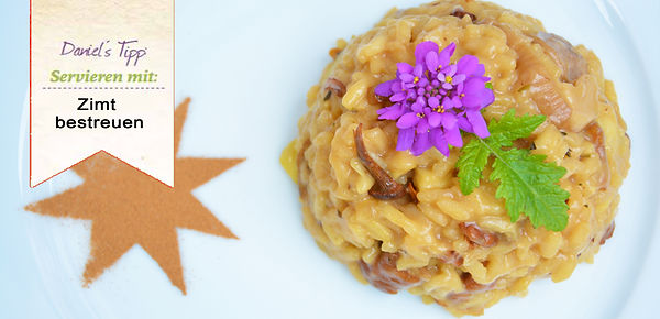 Weihnachtliches Pilzrisotto Risotto Vegan