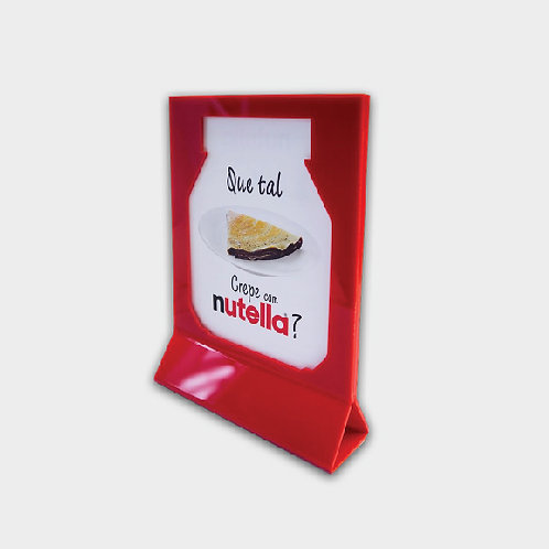 Menu Holder with product shape