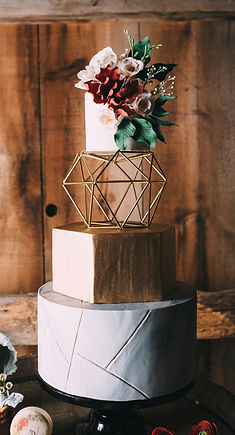 modern wedding, geometric cake, sugar flowers, boho wedding