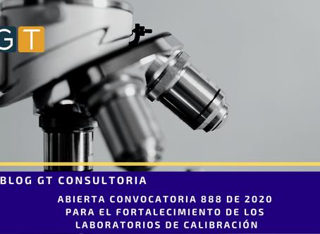 Abierto 2020 Convocatoria 888 para fortalecer laboratorios de calibración abierta