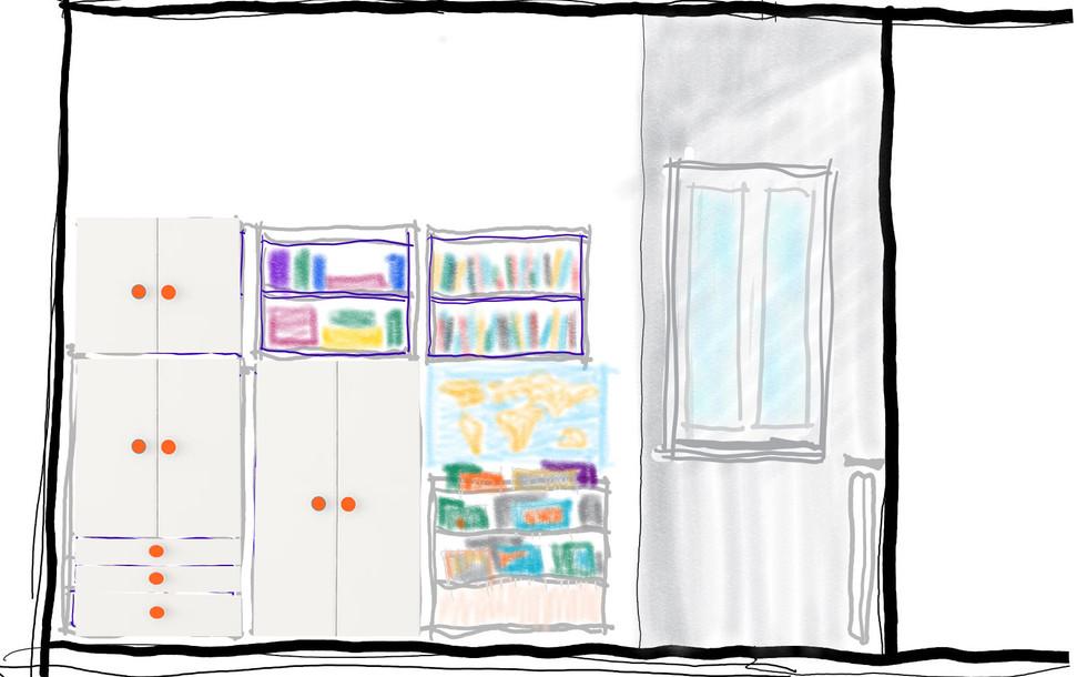 prospetto dell'armadio