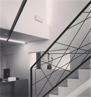 L'escalier menant à l'étage