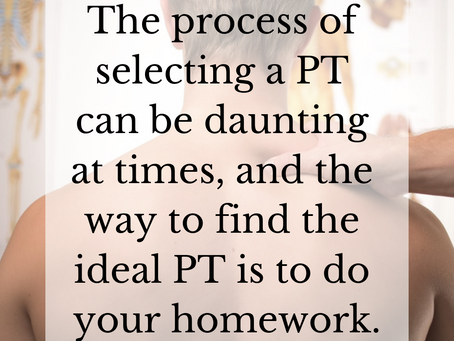7 Crucial Things to Know Before Choosing your PT