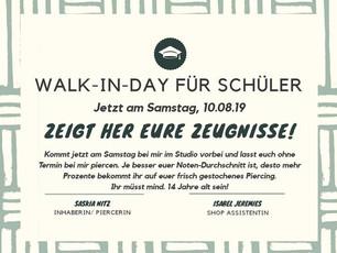 Walk-In-Day für Schüler