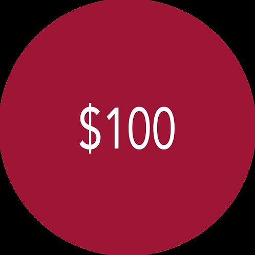 100.00 Donation