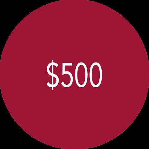 500.00 Donation