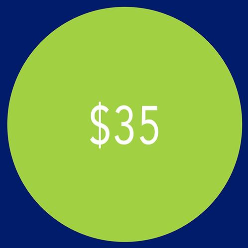 $35 Campaign Contribution