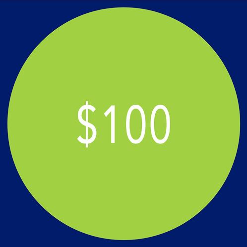 $100 Campaign Contribution