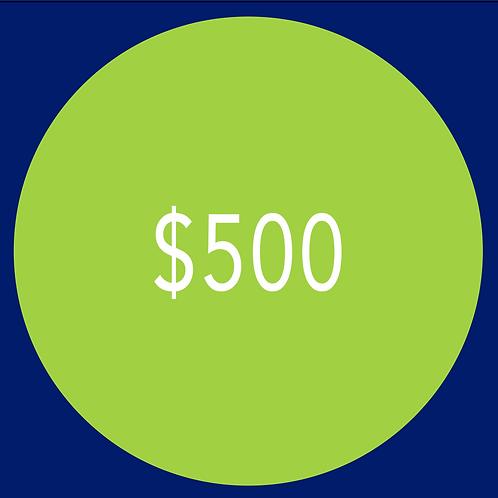 $500 Campaign Contribution