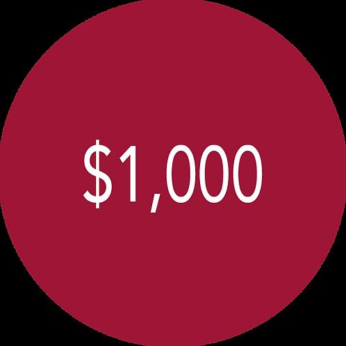 1,000.00 Donation