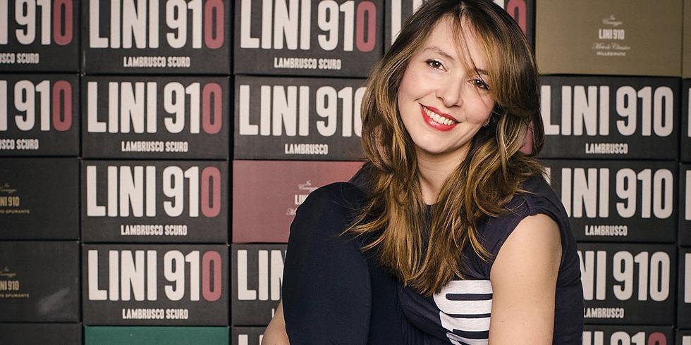 Lambrusco tasting with Ms. Alicia Lini of Lini 910 in Emilia-Romagna, Italy