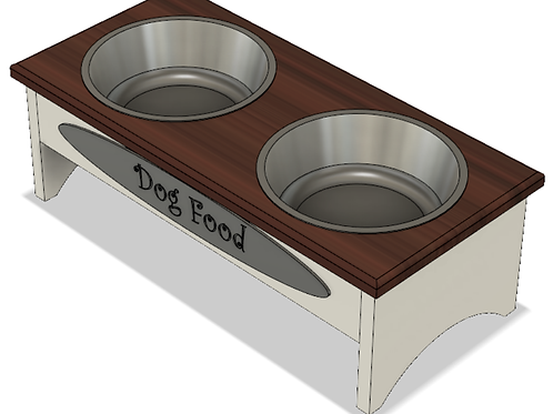 Modern Food Dish Holder - Large