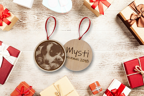 Laser Etched Pet Ornament