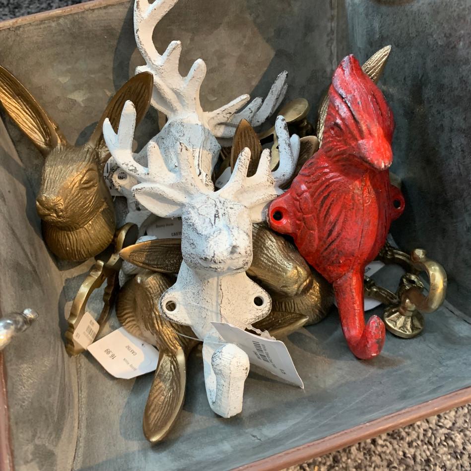 wought iron rabbit moose cardinal wall h