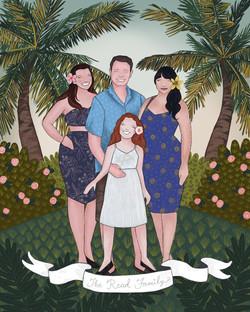 The Makerie Custom Family Illustration R