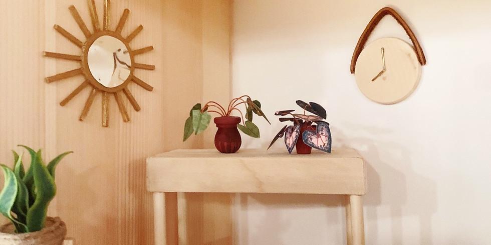 Dollhouse Club: Wall clock, Starburst Mirror & Coiled Rope Rug