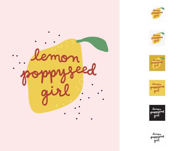 Lemon Poppyseed Girl Logo Variations